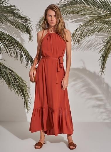 Morhipo Beach Boyundan Bağlamalı Elbise Kiremit